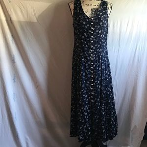 Blue maxi dress with white flowers 11 Jr